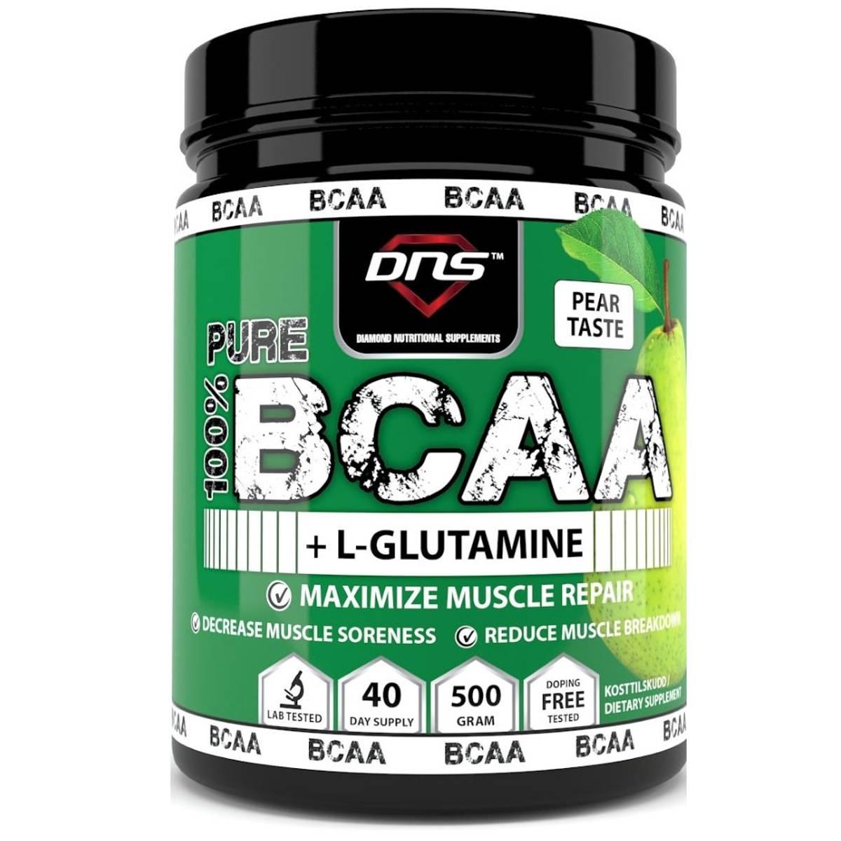 BCAA + L-Glutamin 500 gram Pære