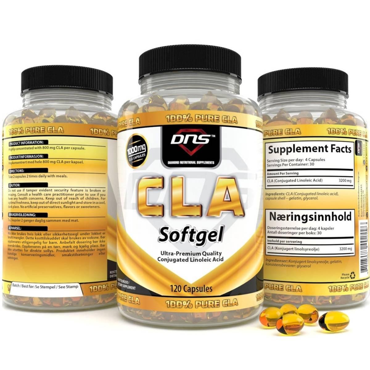 100% Pure CLA - 120 Kapsler