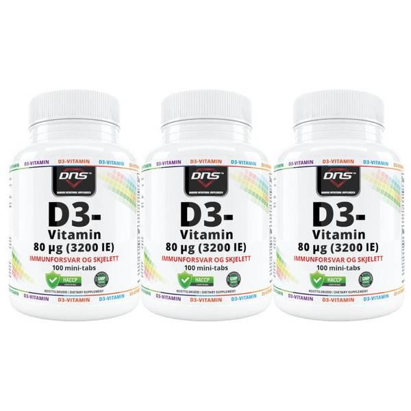 Bilde av 3-Pack D3-Vitamin 80µg - 100 tabs