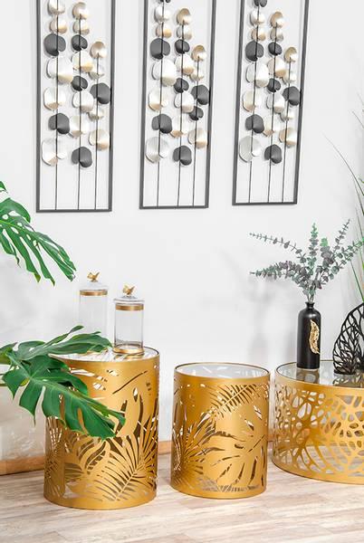 Bilde av Metall bord Palmeblader