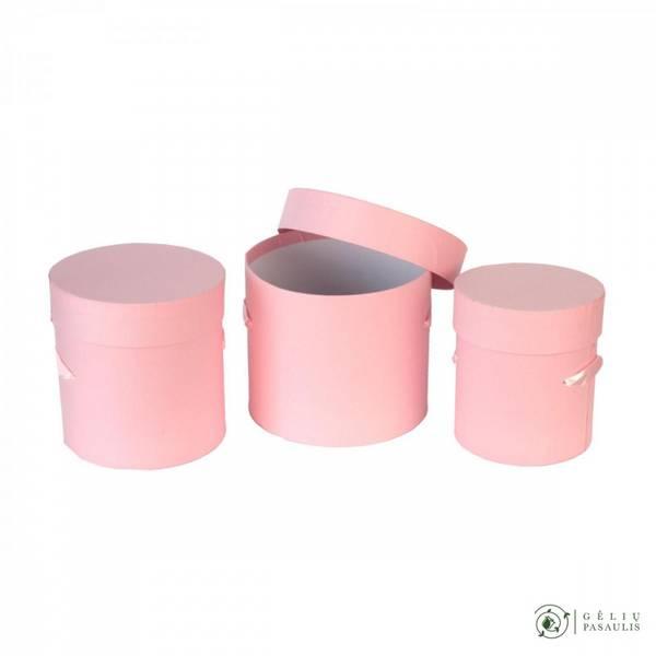 Bilde av Gave eske sett rosa 3 stk.