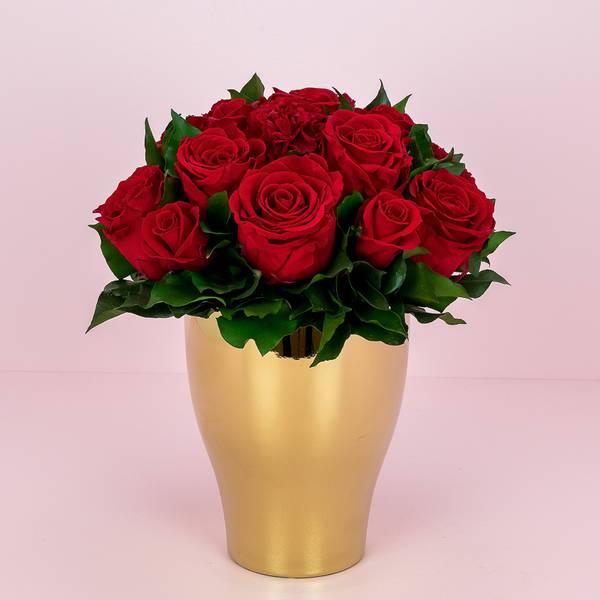 Bilde av Preserverte roser Golden Red