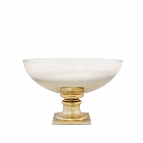 Bilde av Glass skål gull