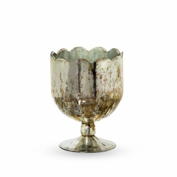Bilde av Vase-lysestake glass 14x14x19 cm