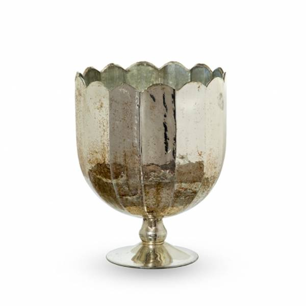 Bilde av Vase-lysestake glass 20x20x25 cm