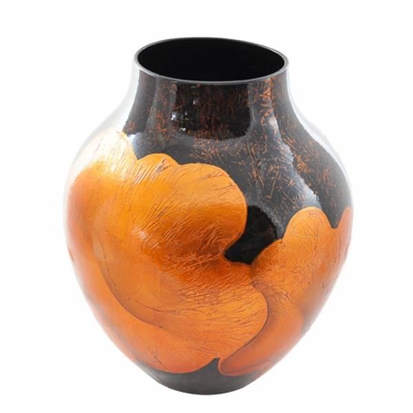Bilde av Vase keramisk lotusblad oransje H33,5