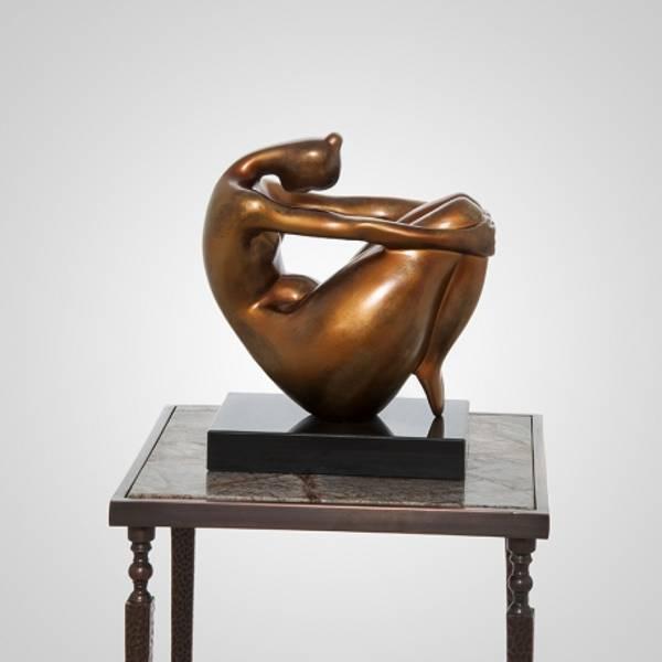 Skulptur Kvinne silhuett bronse
