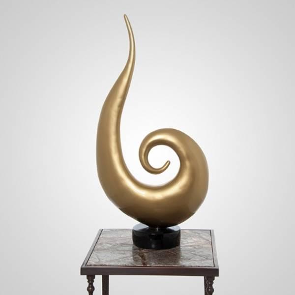 Skulptur gull dråpe 41x18x91