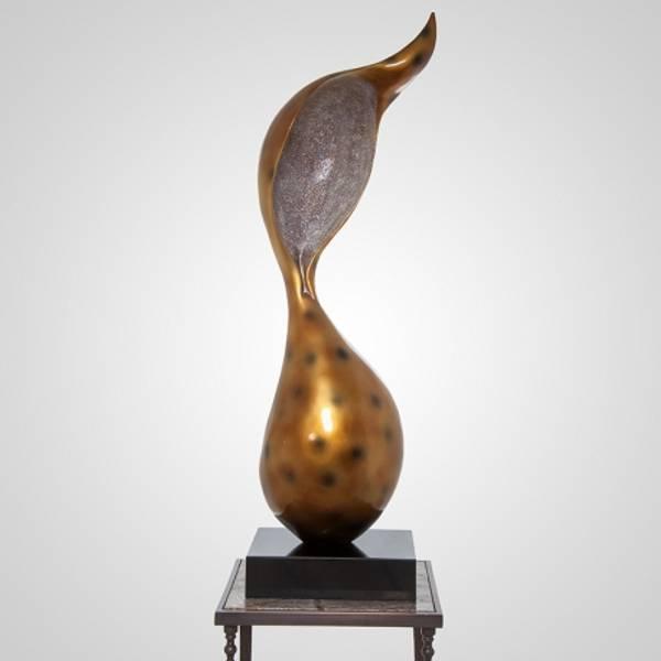 Bilde av Skulptur gull 30x30x117