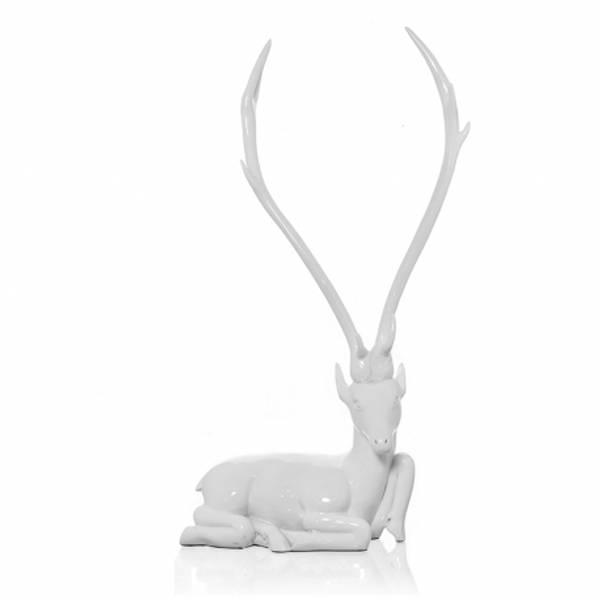 Skulptur antilope 41x19x45