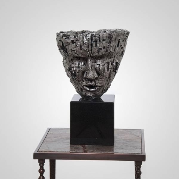 Skulptur maske 30x30x46