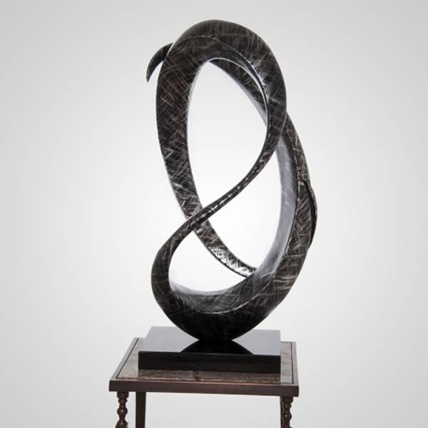 Bilde av Skulptur ring grå 43x30x84