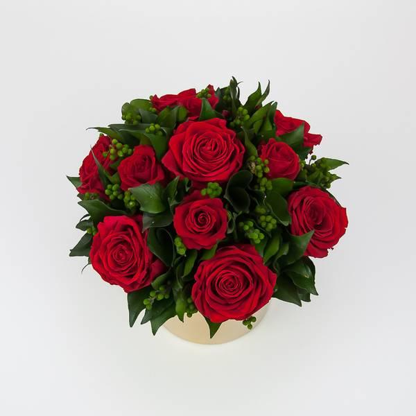 Bilde av Preserverte roser Golden Red M