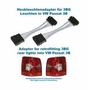 Bilde av Adapter til facelift baklykter - VW Passat 3B