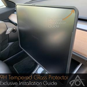Bilde av Skjermbeskytter - matt herdet 9H glass - Tesla Model 3 & Y