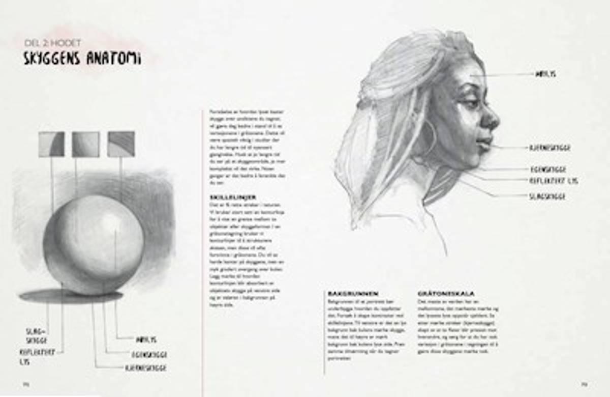 Denne boken vil lære deg å tegne ansikter!