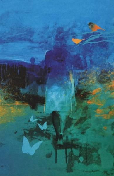 Bilde av Blå natt - håndkolorert.