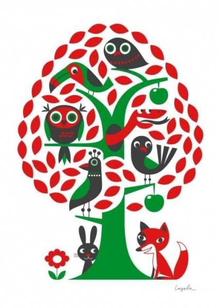 Bilde av Träd, plakat