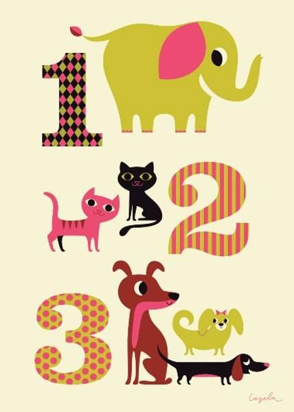 Bilde av 1-2-3, plakat