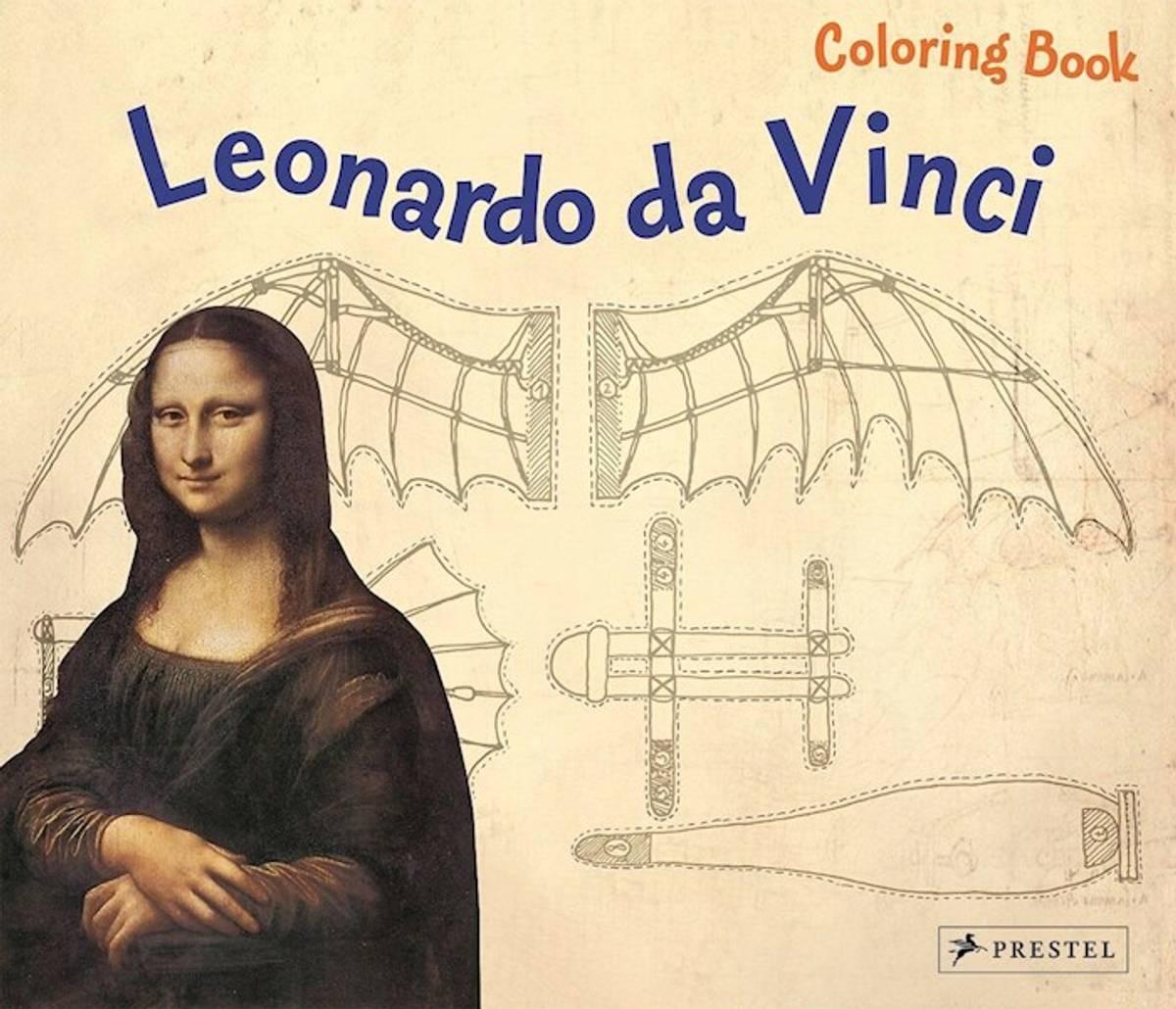 Coloring Book Leonoardo da Vinci