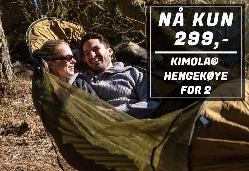 Kimola® hengekøye med myggnetting for 2 personer