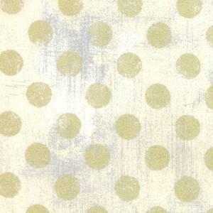 Grunge Dots krem med gull