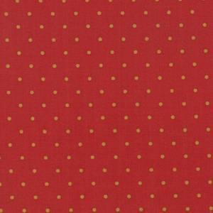 Lys brun dotter på rød bunn fra Jo Morton