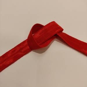Elastisk skråband/folde elastikk - rød