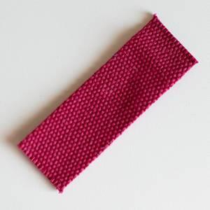 Webbing - bringebær rød 3cm