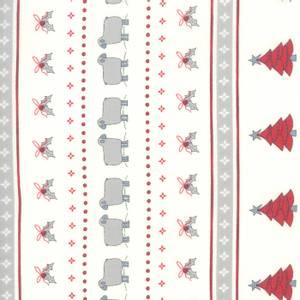 Rapport - hvit med juletrykk - 50cm