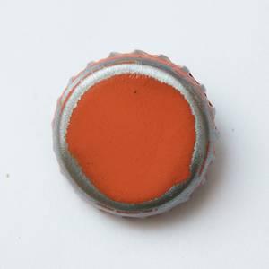 Knapp - bruskork - orange 3cm
