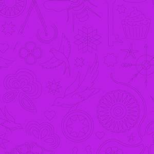 Bilde av Sunprint 2020 lilla broderi