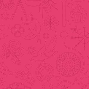 Bilde av Sunprint 2020 rosa broderi