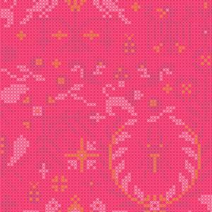 Bilde av Sunprint 2020 rosa korssting