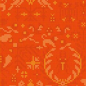 Bilde av Sunprint 2020 oransje korssting