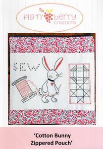 Bilde av Cotton Bunny zippered pouch
