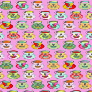 Bilde av Curiouser and Curiouser Tea time, rosa
