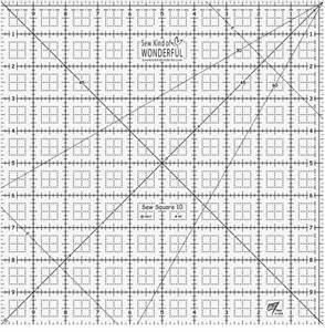 Bilde av Sew square linjal 10x10