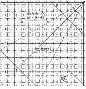 Bilde av Sew square linjal 6x6