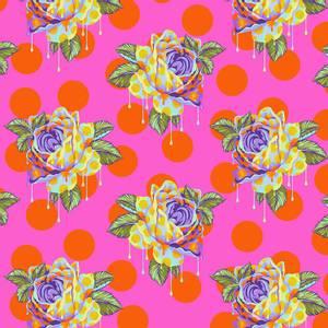 Bilde av Curiouser and Curiouser Painted roses, rosa