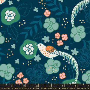 Bilde av Purl blomster og fugler