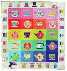 Bilde av Mad Hatter's tea party quilt kit