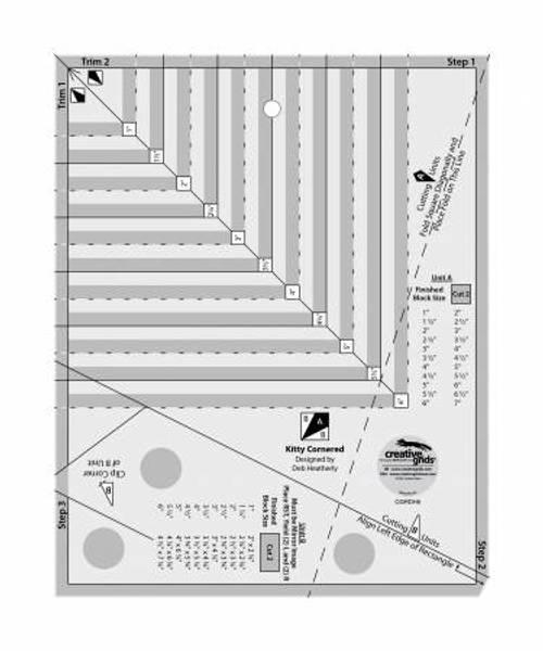 Creative grids Kitty cornered linjal