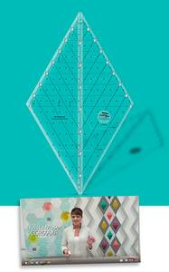 Bilde av Krista Moser 60degree diamond linjal (stor)