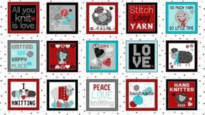 Bilde av All you knit is love, paneler