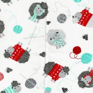 Bilde av All you knit is love, hvit med sauer