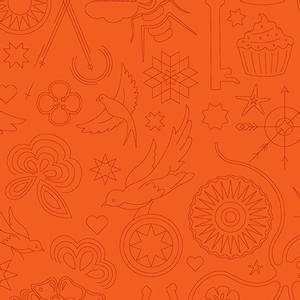 Bilde av Sunprint 2020 oransje broderi
