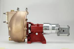 Bilde av Forani &Pecorari bronsjepumpe m hydraulisk drift 185L/min PC40/1