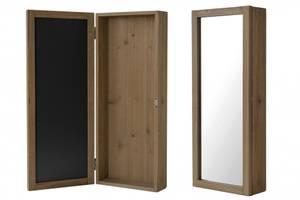 Bilde av Nøkkelskap med speil, brunt, H: 50cm