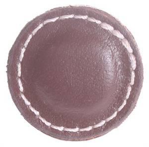 Bilde av Knott av lær, brun Ø: 3,5cm